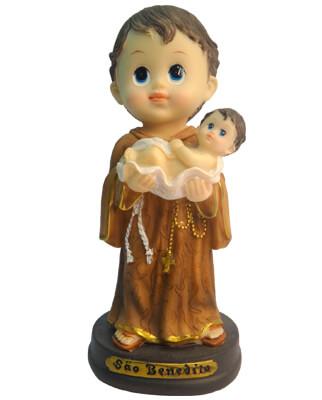 Imagem Infantil de São Benedito - 10 cm