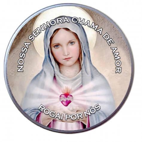 Latinha Personalizada de Nossa Senhora da Chama de Amor