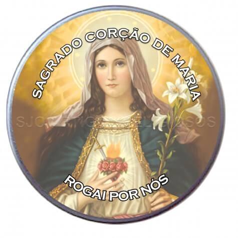 Latinha Personalizada do Sagrado Coração de Maria - Modelo 02