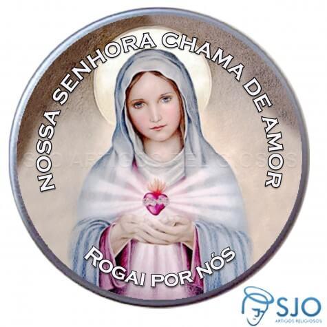 Latinha Personalizada da Nossa Senhora da Chama do Amor