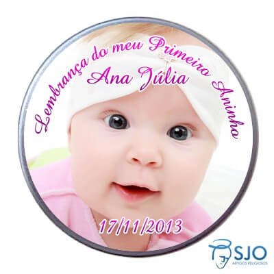 Latinha Personalizada de Anivers�rio do Meu Primeiro Aninho - Menina