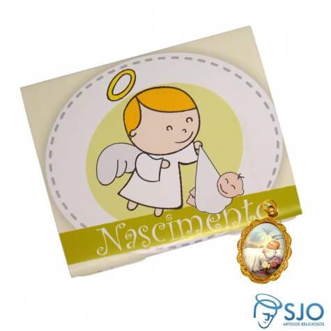 Lembrancinhas de Nascimento - Cartão com Medalha