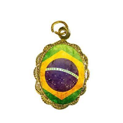 Medalha de Alumínio Bandeira Brasil - Modelo 2