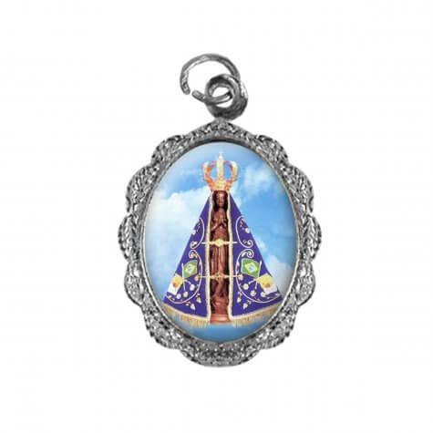 Medalha de alumínio - Nossa Senhora Aparecida -  Mod. 3