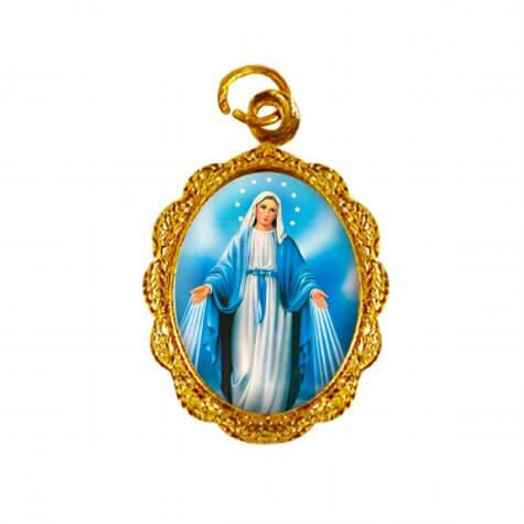 Medalha de alumínio - Nossa Senhora das Graças - Mod. 3