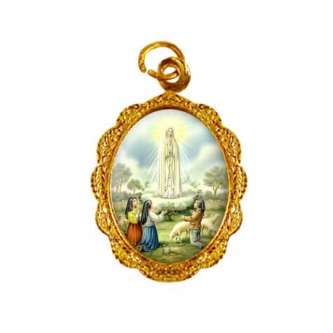 Medalha de alumínio - Nossa Senhora de Fátima - Mod. 2