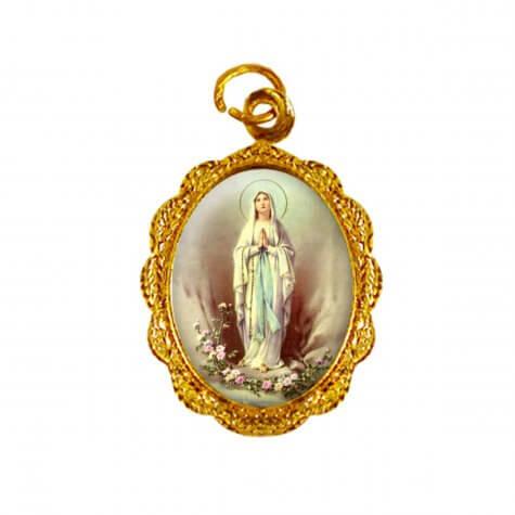 Medalha de alumínio - Nossa Senhora de Lourdes