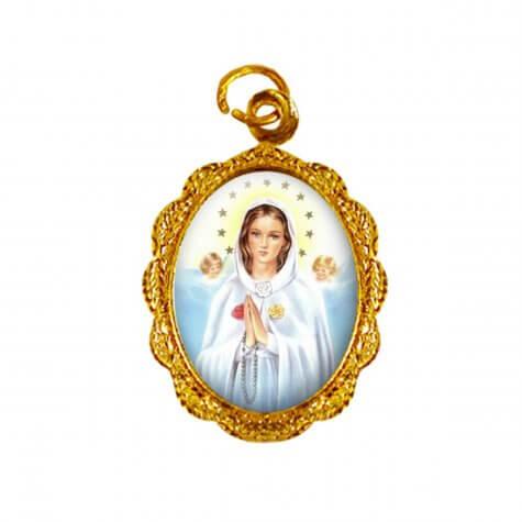 Medalha de Alumínio - Nossa Senhora Rosa Mística
