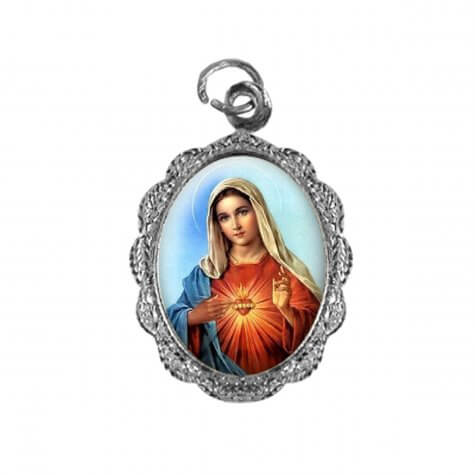 Medalha de alumínio - Sagrado Coração de Maria - Mod. 1