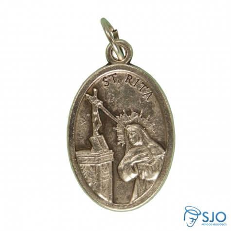Medalha Oval Santa Rita de Cássia