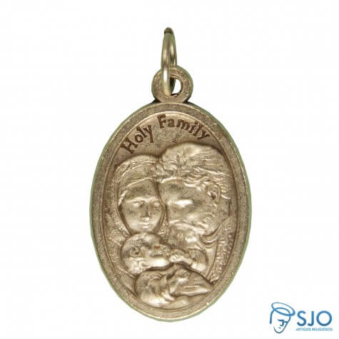Medalha Oval Sagrada Fam�lia