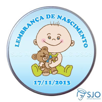Latinha de nascimento - Mod.5 - Masc.