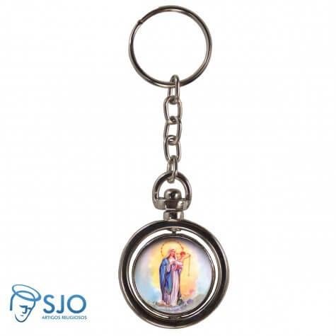 Chaveiro Redondo Giratório - Nossa Senhora dos Navegantes