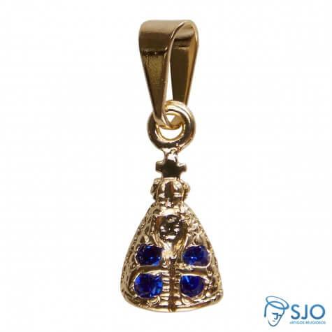 Pingente Nossa Senhora Aparecida Mini Azul