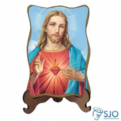Porta-Retrato Sagrado Coração de Jesus - Modelo 1