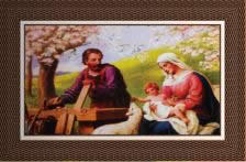 Quadro Religioso Jesus, Maria e José