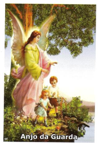 Santinhos de Oração Anjo da Guarda