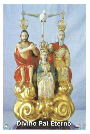 Santinhos de ora��o do Divino Pai Eterno
