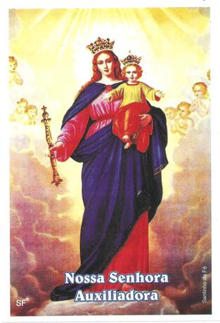 Santinhos de Oração Nossa Senhora Auxiliadora