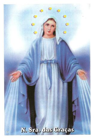 Santinhos de Ora��o Nossa Senhora das Gra�as - Mod. 01