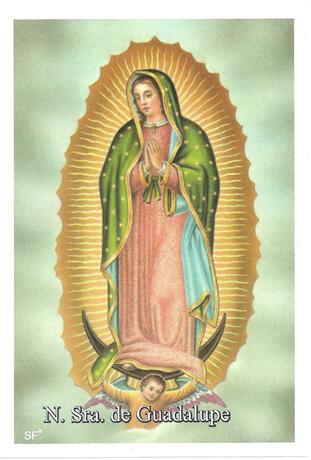 Santinhos de Oração Nossa Senhora de Guadalupe