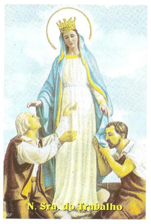 Santinhos de Ora��o Nossa Senhora do Trabalho
