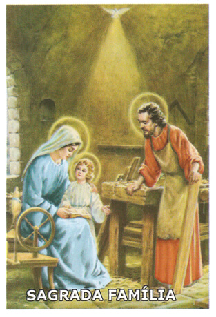 Santinhos de Oração Sagrada Família