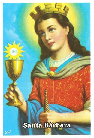 Santinhos de Oração Santa Bárbara