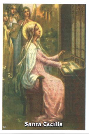 Santinhos de Oração Santa Cecília
