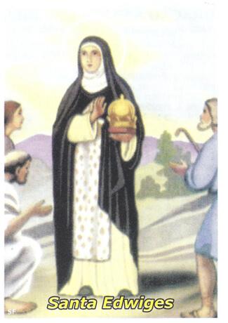 Santinhos de oração de santa Edwiges