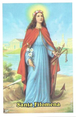 Santinhos de Oração Santa Filomena