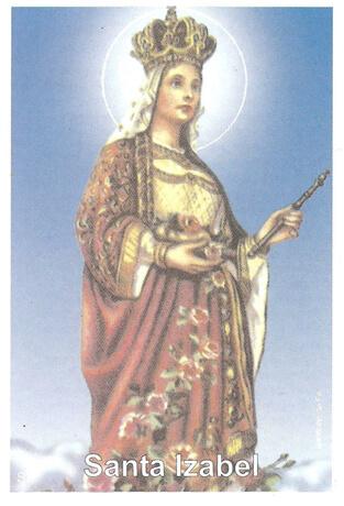 Santinhos de Oração Santa Isabel