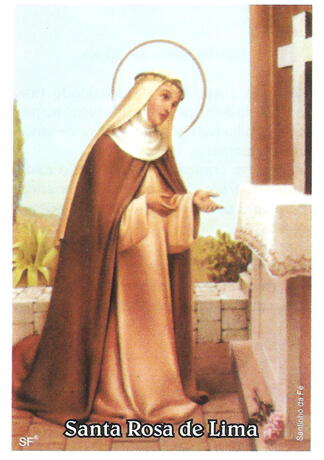 Santinhos de Oração Santa Rosa de Lima