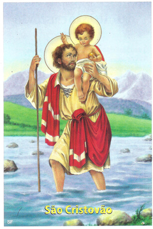 Santinhos de Ora��o S�o Cristov�o