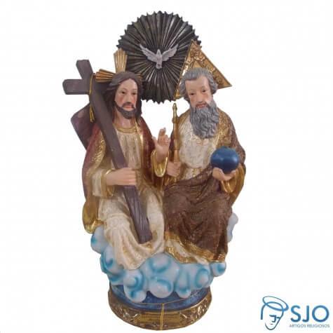 Imagem de resina Sant�ssima Trindade Dourada - 30 cm
