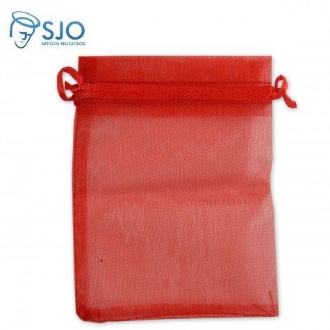 100 Saquinhos de Organza 8 x 12 - Vermelho