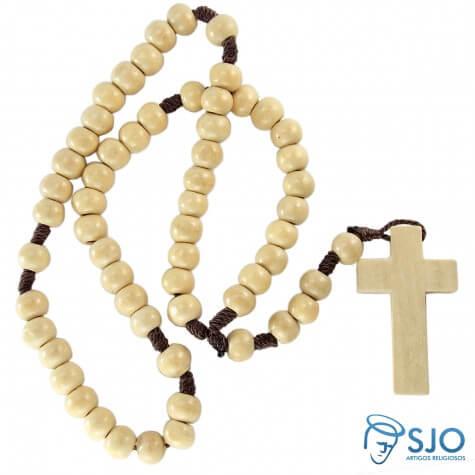 10 Terços de Madeira Marfim no Cordão