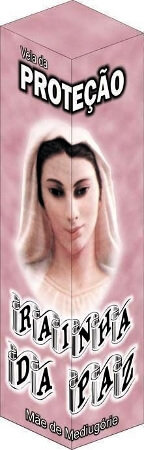 Vela de Proteção - Rainha da Paz
