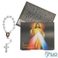 100 Cartões com Mini Terço de Jesus Misericordioso
