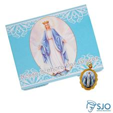 Cart�o com Medalha de Nossa Senhora das Gra�as