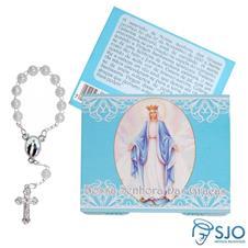 Cart�o com Mini Ter�o de Nossa Senhora das Gra�as