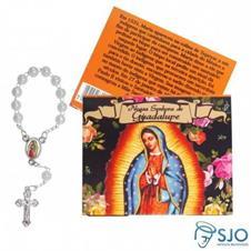 100 Cartões com Mini Terço de Nossa Senhora de Guadalupe