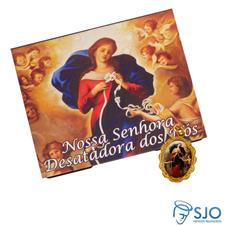 Cartão com Medalha de Nossa Senhora Desatadora dos Nós