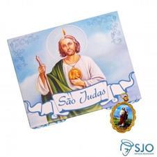 100 Cartões com Medalha de São Judas Tadeu