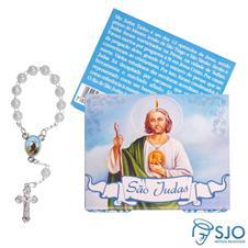 Cartão com Mini Terço de São Judas Tadeu