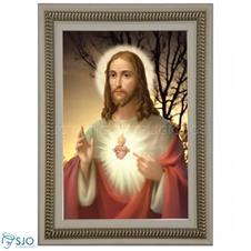 Quadro Religioso Sagrado Cora��o de Jesus - Mod. 4