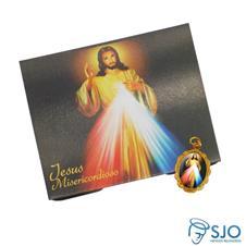 Cartão com Medalha de Jesus Misericordioso