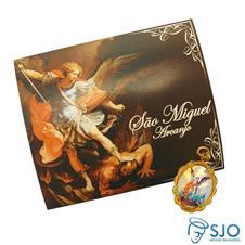 Cartão com Medalha de São Miguel