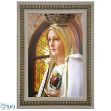 Quadro Religioso Coração Nossa Senhora de Fátima