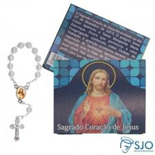 100 Cart�es com Mini Ter�o do Sagrado Cora��o de Jesus
